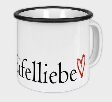Emaille-Becher 400 ml, Eifeltassen, Eifel-Fotogräfin