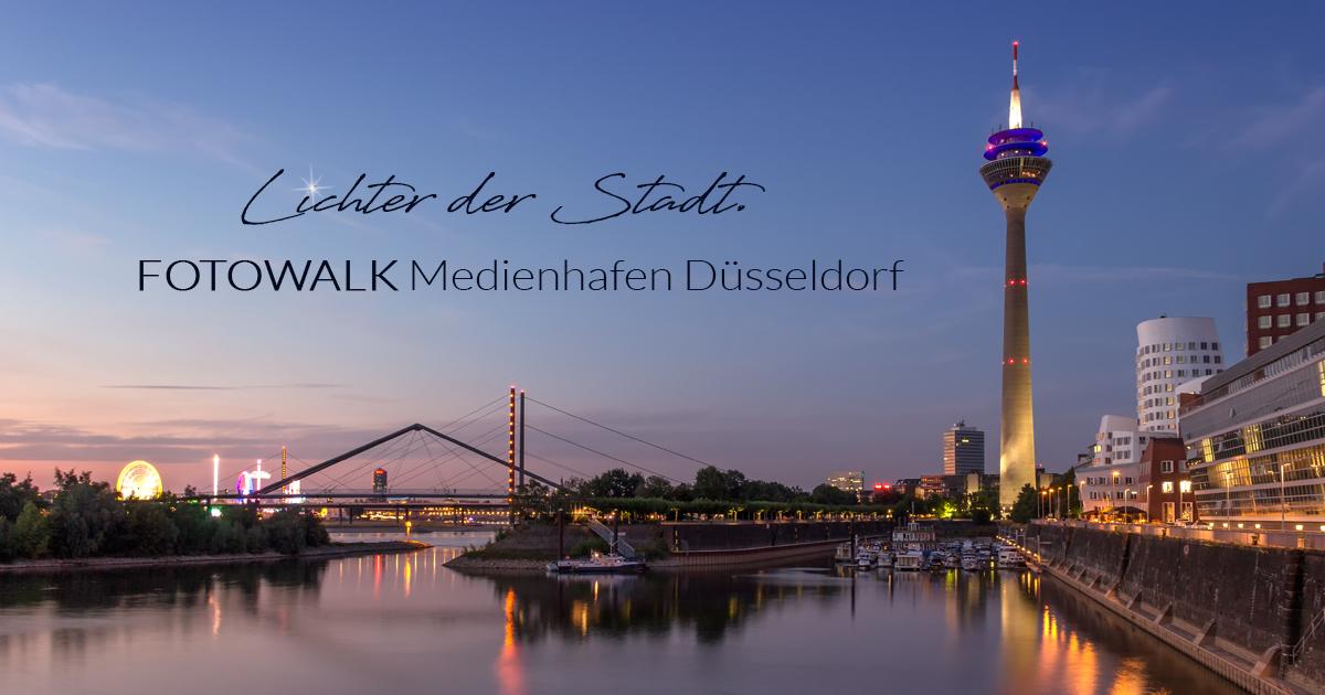 Lichter der Stadt. Fotowalk Medienhafen Düsseldorf