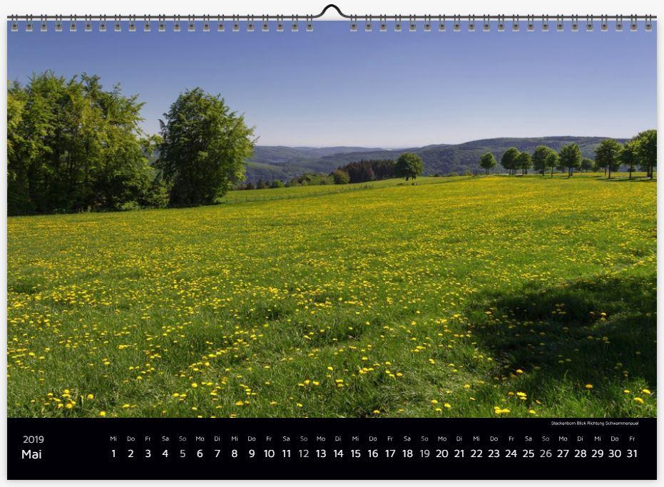"Wandkalender ""Eifelliebe 2019"""